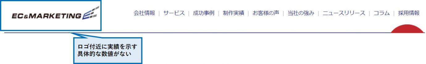 セオリー①:サイトの規模感を示す定量的な情報を提示する_悪い例